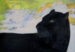 Schwarze Panther, Ölbild, gemälde, Ioana Luca, malerei, düsseldorf, künstlerin