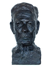 Porträtbüste König Michael I. von Rumänien, 2017 Bronze, dunkel patiniert (braun, schwarz, grün), Guss 3/3 H. 39 cm (Guss Bildgießerei Richard Barth, Rinteln)