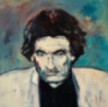 Detlev Foth, Porträtmaler Düsseldorf, Schriftstellerporträts, Jerzy Kosinski Portrait, Porträtauftrag Düsseldorf, Ölbild, Gemälde