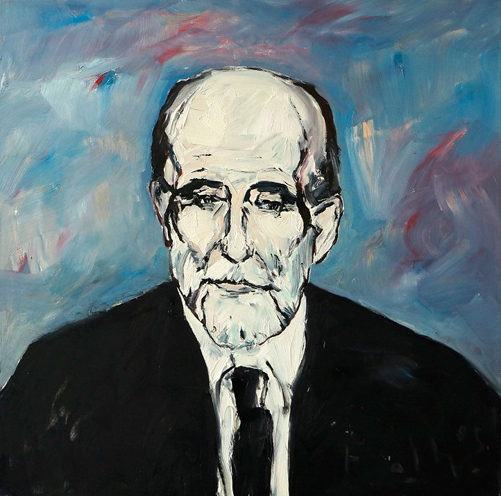 Detlev Foth, Porträtmaler Düsseldorf, Schriftstellerporträts, Juan Ramon Jimenez Portrait, Porträtauftrag Düsseldorf, Ölbild, Gemälde