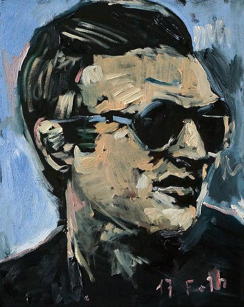 Detlev Foth, Porträtmalerei, Porträtmaler, Steve McQueen, Porträt, Portrait, Öl auf Leinwand, german artist, Künstlerin Düsseldorf