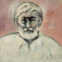 Detlev Foth, Porträtmaler Düsseldorf, Schriftstellerporträts, Ernest Hemingway Portrait, Painting, Porträtauftrag Düsseldorf, Ölbild, Gemälde, Mann mit Bart
