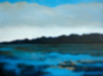 Landschaft, Ölbild, Blau, Ioana Luca