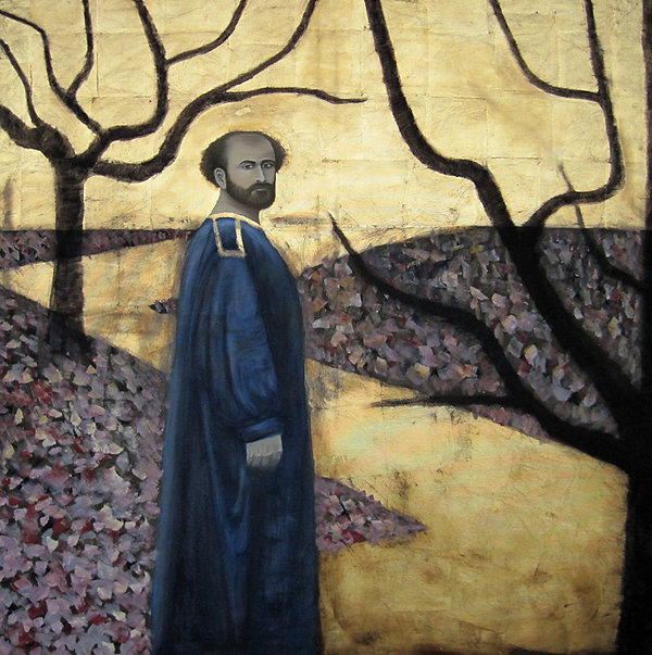 Landschaft Figur Großformatiges Ölbild Ioana Luca