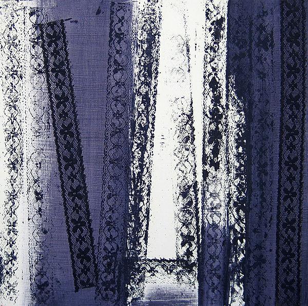 ioana luca, ölbild auf holz, lila, abstrakt
