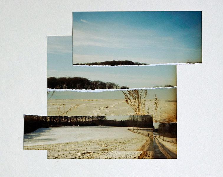 Fotocollage Ioana Luca, Landschaft, Winter, Schnee, Feld