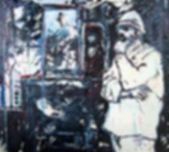 Detlev Foth, Figurenbild, Ölbild, Kunst, Düsseldorf, Mann, Großvater, Selbstbildnis