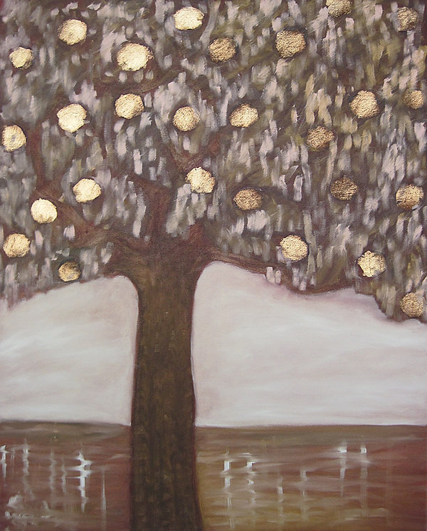 Baum, Ölbild, Ioana Luca