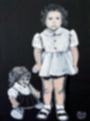 Ioana Luca, Malerei, Künstler, Düsseldorf, Kind mit Puppe, Mädchen mit Puppe, Puppe, Mädchen in weißem Kleid, Gemälde, Ölbild