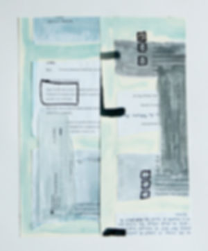 arbeiten auf papier, collage, briefe, fotografien, ioana luca