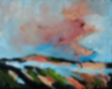 Detlev Foth, Landschaften, Öl, Leinwand, Flussbett, Flusslandschaft, Ufer, Malerei, Künstler in Düsseldorf