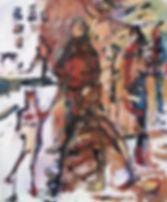 Detlev Foth, Figurenbild, Ölbild, Mann, Kind, Hund, Kunst, Düsseldorf
