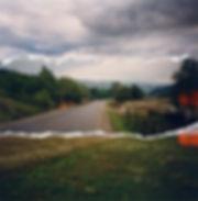 Fahrradtour in Rumänien, Landchaften, Karpaten, Klöster, Berge, Fotocollage, rumänische Kunst, Ioana Luca