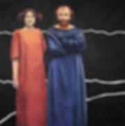 Figuren Großformatiges Ölbild Ioana Luca