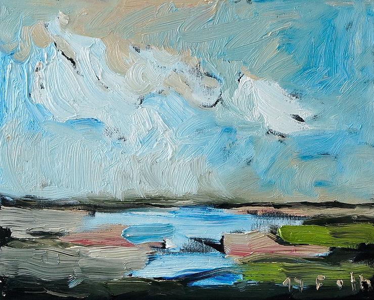 Landschaft Norddeutschland, Ölbild, Gemälde, Malerei, Detlev Foth