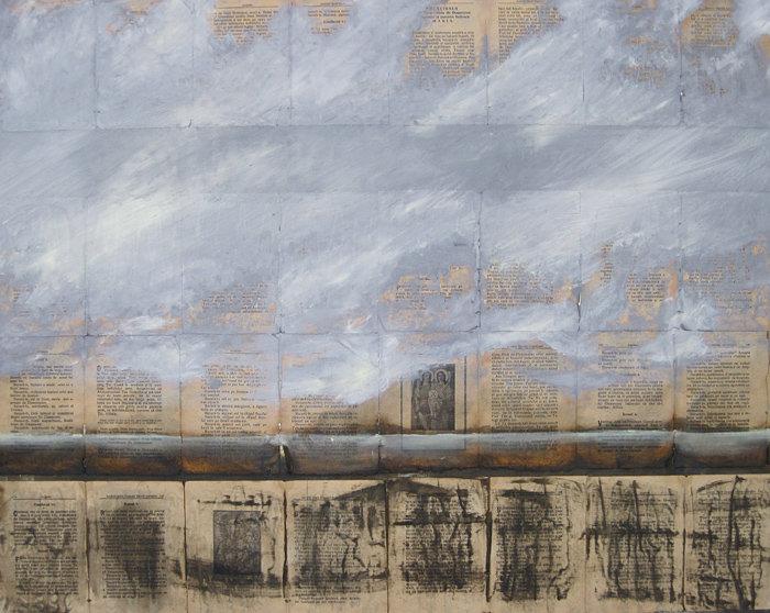 Collage auf Leinwand, Ioana Luca