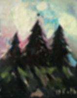 Detlev Foth, Horizonte, Tannen, Nordschwarzwald, Landschaften, Öl, Leinwand, Kleinformatige Bilder, Ölmalerei, Künstler in Düsseldorf