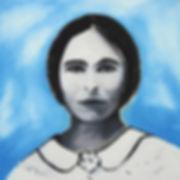 ölbild auf holz, porträt, ioana luca