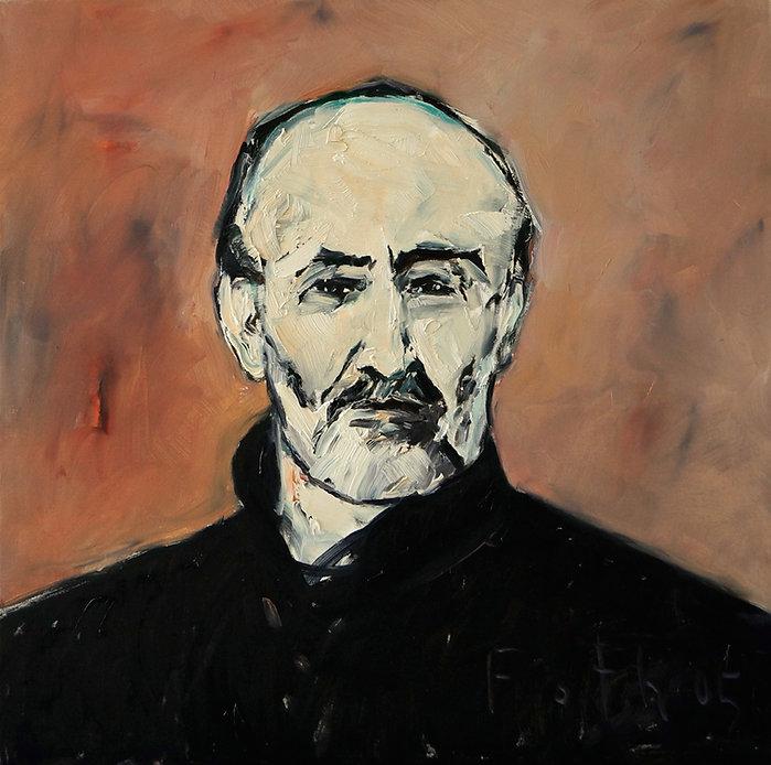 Detlev Foth, Porträtmaler Düsseldorf, Schriftstellerporträts, Harold Brodkey Portrait, Porträtauftrag Düsseldorf, Ölbild, Gemälde