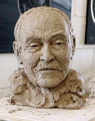 Porträtbüste Heinrich Foth, Tonplastik, Ioana Luca, Bildhauerin Düsseldorf