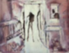 Detlev Foth, Figurenbild, Ölbild, Kunst, Düsseldorf, Greis, Raum