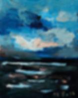 Detlev Foth, Horizonte, Nacht, Landschaften, Öl, Leinwand, Kleinformatige Bilder, Ölmalerei, Künstler in Düsseldorf