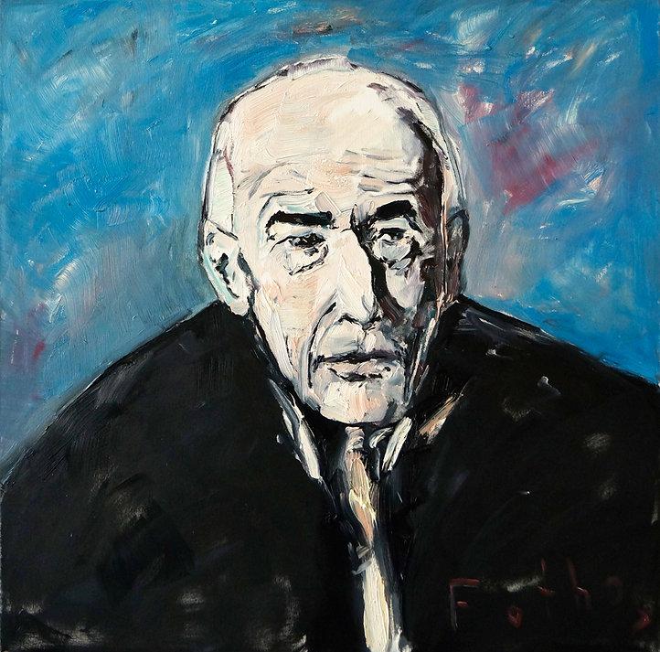Detlev Foth, Porträtmaler Düsseldorf, Schriftstellerporträts, Henry Miller Portrait, Painting, Porträtauftrag Düsseldorf, Ölbild, Gemälde