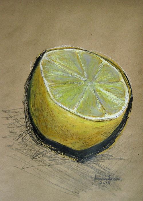 Zeichnung, Ölpastell, Graphit, Ioana Luca, Obst