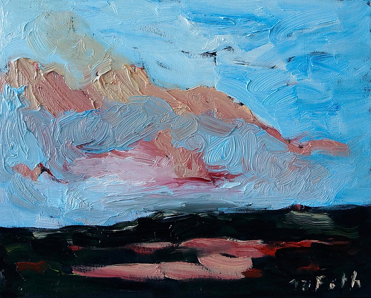 Horizonte, Gemälde, Detlev Foth, Landschaften, Norderstedt, Ölmalerei, Künstler in Düsseldorf