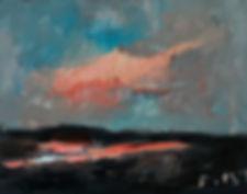Detlev Foth, Horizonte, Landschaft, Kleinformatige Bilder, Ölmalerei, Künstler in Düsseldorf