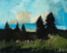 Detlev Foth, Horizonte, Hügel, Tannen, Schluchsee, Landschaften, Öl, Leinwand, Kleinformatige Bilder, Ölmalerei, Künstler in Düsseldorf