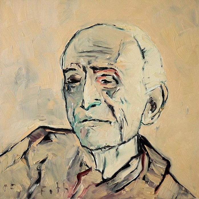Detlev Foth, Porträtmaler Düsseldorf, Künstlerporträts, Balthus Porträt, Gemälde, Öl auf Leinwand, Porträtauftrag Düsseldorf, Ölbild