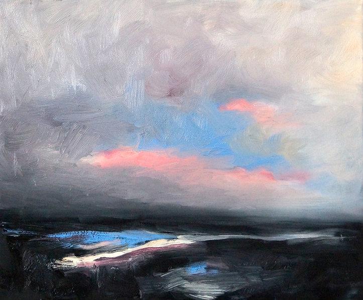 Landschaftsmalerei, Detlev Foth, Landschaft, Öl auf Leinwand
