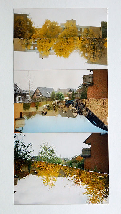 Fotocollage Ioana Luca, Stadt im Herbst