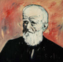 Detlev Foth, Porträtmaler Düsseldorf, Schriftstellerporträts, George Bernard Shaw Portrait, Öl auf Leinwand, Porträtauftrag Düsseldorf, Ölbild, Gemälde
