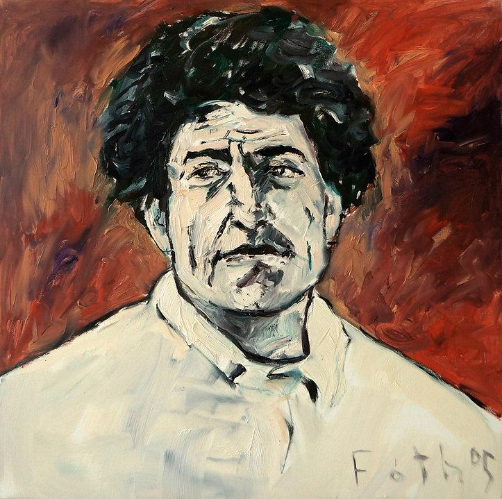Detlev Foth, Porträtmaler Düsseldorf, Künstlerporträts, Alberto Giacometti Portrait, Painting, Porträtauftrag Düsseldorf, Ölbild, Gemälde