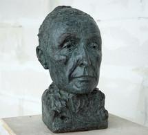 Georgia O'Keeffe, 2020 Porträtbüste, Bronze, patiniert H. 33 cm (Gegossen 2021 Bildgießerei Richard Barth, Rinteln) - Ioana Luca - Bildhauerei