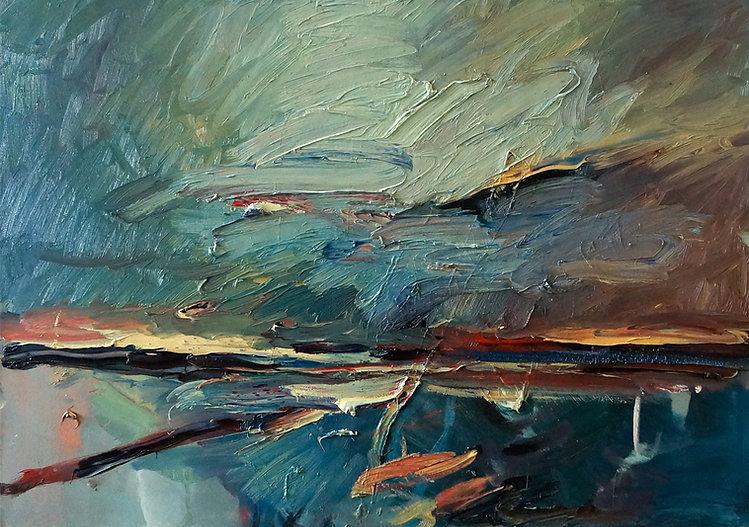 Landschaften, Öl auf Leinwand, Detlev Foth, Landschaftsmaler, Düsseldorf, Künstler in Düsseldorf, Art Düsseldorf, Zeitgenössische Kunst, Ölmalerei, Horizonte, Strand