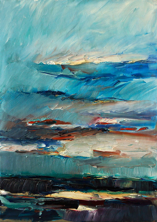 Landschaften, Öl auf Leinwand, Detlev Foth, Landschaftsmaler, Düsseldorf, Künstler in Düsseldorf, Art Düsseldorf, Zeitgenössische Kunst, Ölmalerei, Horizonte, Mönchenwerth