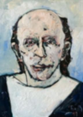 Detlev Foth, Porträtmalerei, Porträtmaler, Phil Spector, Porträt, Portrait, Öl auf Leinwand, german artist, Künstlerin Düsseldorf