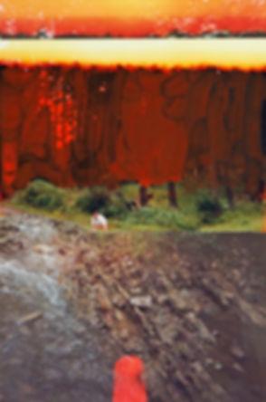 Matius Ichim, Fahrradtour in Rumänien, Moldova, Landschaften, Karpaten, Wald, Fotocollage, rumänische Kunst, Ioana Luca