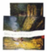 Fahrradtour in Rumänien, Zelten, Landschaften, Karpaten, Wald, Fotocollage, rumänische Kunst, Ioana Luca