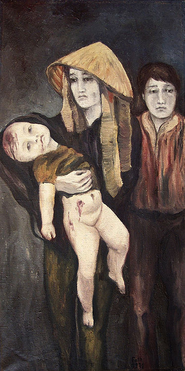 Detlev Foth, Figurenbild, Ölbild, Kunst, Düsseldorf, Selbstbildnis, an der Staffelei, Maler, Künstler