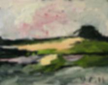 Detlev Foth, Horizonte, Hügel, Feld, Landschaften, Öl, Leinwand, Kleinformatige Bilder, Ölmalerei, Künstler in Düsseldorf