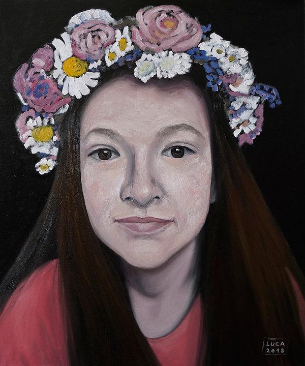 Mädchenporträt, Porträt in Öl, Porträtmaler in Düsseldrf, Öl auf Leinwand, Porträtauftrag, Kinderporträts