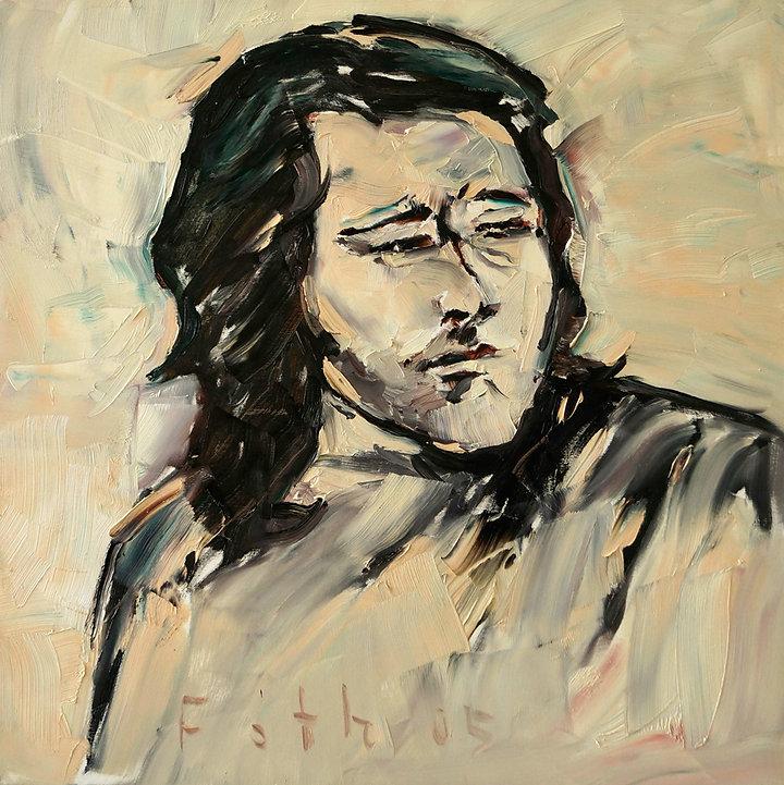 Detlev Foth, Porträtmalerei, Porträtmaler Düsseldorf, Musikerporträts, Rory Gallagher Portrait