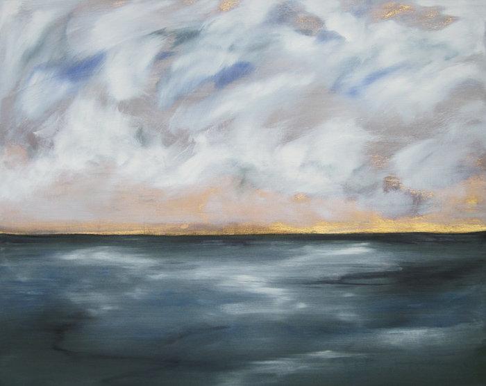 Landschaft, Ölbild, Ioana Luca