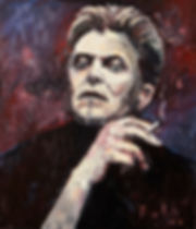 Detlev Foth, Porträtmalerei, Ölmalerei, David Bowie, Porträt, Ölbild, Musiker, Musikerporträts, Maler, Künstler, Düsseldorf