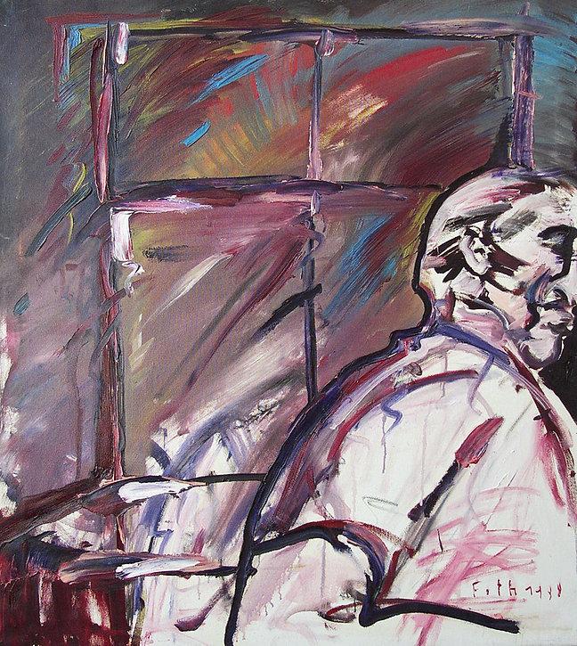 Detlev Foth, Figurenbild, Ölbild, Kunst, Düsseldorf