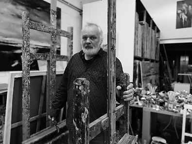 Detlev Foth, Düsseldorfer Künstler, im Atelier, Künstler in Düsseldorf, NRW